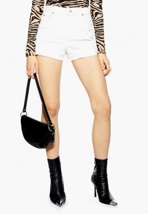 Шорты джинсовые Topshop. Цвет: белый