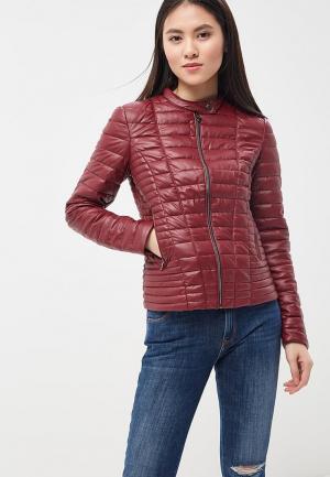 Куртка кожаная Guess Jeans GU644EWBFNI0. Цвет: бордовый