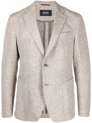 Однобортный пиджак BOSS. Цвет: нейтральные цвета