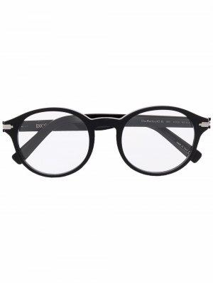 Очки Blacksuit в круглой оправе Dior Eyewear. Цвет: черный