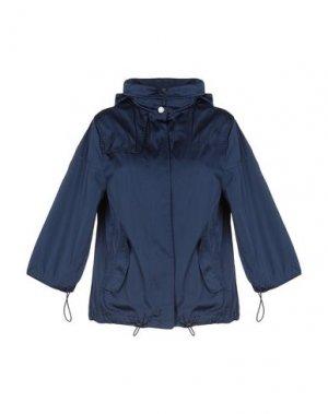 Куртка MANUELA CONTI. Цвет: темно-синий