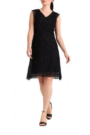 Кружевное платье Apart. Цвет: черный