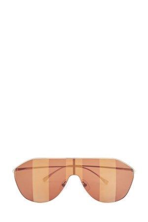 Очки-маска в оправе авиатор с линзами стиле colorblock FENDI (sunglasses). Цвет: коричневый