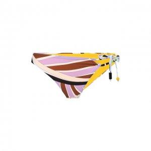 Плавки-бикини Emilio Pucci. Цвет: жёлтый