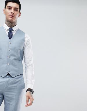 Однотонный жилет узкого кроя Wedding-Голубой Gianni Feraud