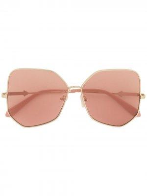 Массивные солнцезащитные очки с затемненными линзами Karen Walker. Цвет: золотистый