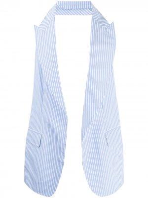 Полосатый жилет в двух тонах Comme Des Garçons Shirt. Цвет: синий