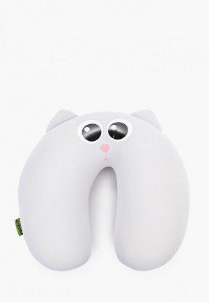 Подушка декоративная Gekoko Дымок. Цвет: серый