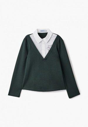 Блуза Smena. Цвет: зеленый