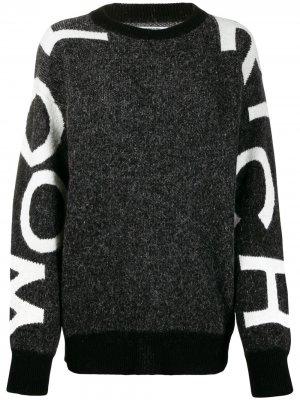 Декорированный джемпер с логотипом Woolrich. Цвет: черный