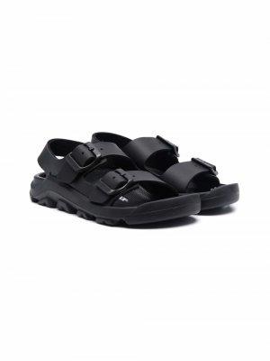 Mogami Birko-Flor slingback sandals Birkenstock Kids. Цвет: черный