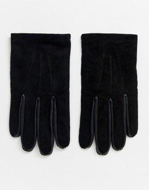 Замшевые перчатки -Черный Bolongaro Trevor
