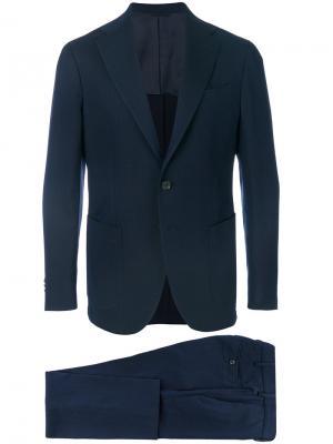 Классический деловой костюм Doppiaa. Цвет: синий