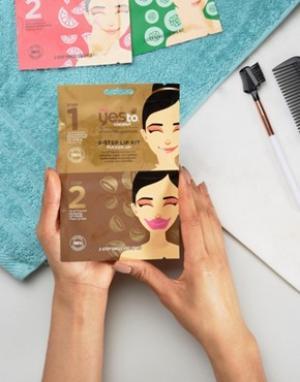 Набор с 2-этапным применением маской для губ Yes To Coconut-Бесцветный