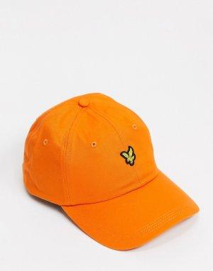 Бейсболка -Оранжевый цвет Lyle & Scott