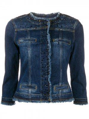 Джинсовая куртка Kate LIU JO. Цвет: синий