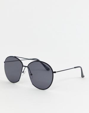Черные круглые солнцезащитные очки с вырезом Inspired эксклюзивно для ASOS-Черный Reclaimed Vintage