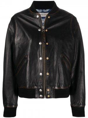 Куртка с декоративными пуговицами Golden Goose. Цвет: черный