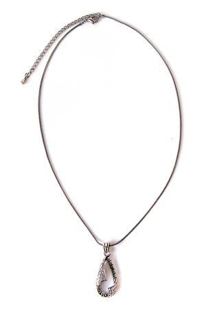 Кулон на цепочке Inesse M. Цвет: серебро, черный