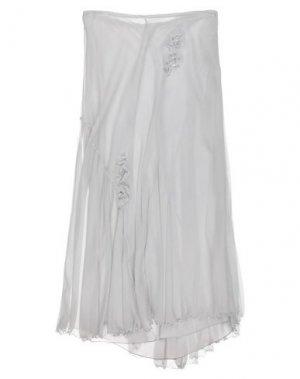 Длинная юбка PHILOSOPHY di ALBERTA FERRETTI. Цвет: серый