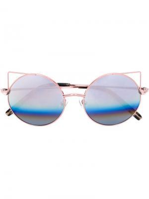 Солнцезащитные очки Matthew Williamson. Цвет: розовый и фиолетовый