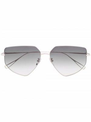 Массивные солнцезащитные очки-авиаторы California EQUE.M. Цвет: серебристый