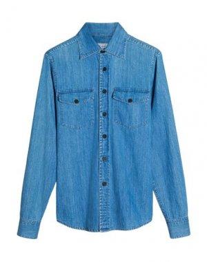 Джинсовая рубашка DUNHILL. Цвет: синий
