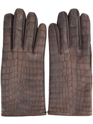 Перчатки SERAPHIN. Цвет: коричневый