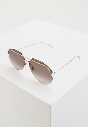 Очки солнцезащитные Christian Dior Homme ANDIORID 3YG. Цвет: золотой