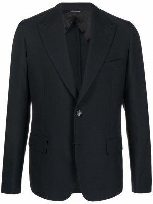 Однобортный пиджак строгого кроя Reveres 1949. Цвет: черный