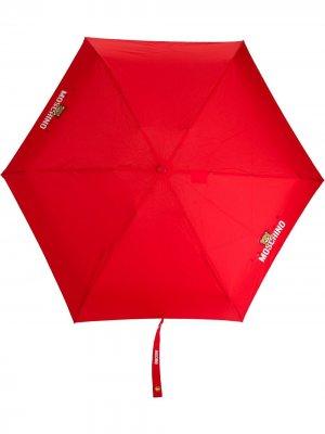 Зонт с логотипом Moschino. Цвет: красный