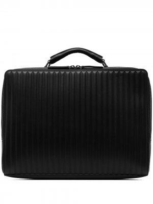 Quilted-finish laptop bag Emporio Armani. Цвет: черный