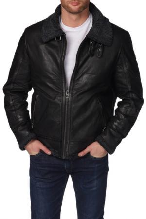 Кожаная куртка Gipsy. Цвет: черный