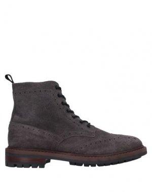 Полусапоги и высокие ботинки MFW COLLECTION. Цвет: стальной серый
