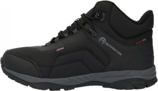 Ботинки утепленные мужские Drizzle mid, размер 40 Outventure. Цвет: черный