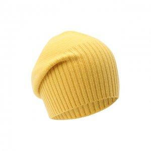 Кашемировая шапка Allude. Цвет: жёлтый