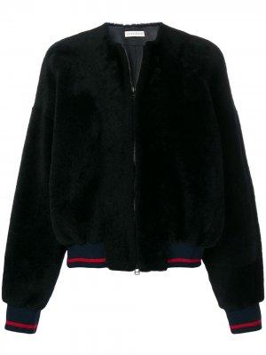 Куртка-бомбер из овчины Inès & Maréchal. Цвет: синий