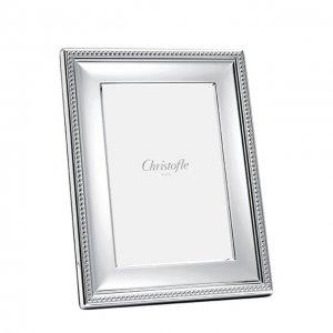 Рамка для фотографии Perles Christofle. Цвет: серебряный