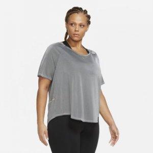 Женская беговая футболка с коротким рукавом Icon Clash (большие размеры) - Черный Nike