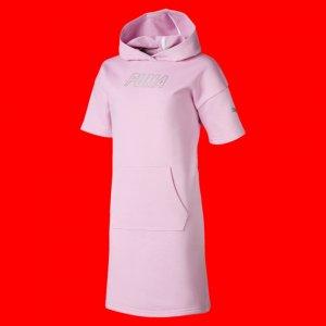 Детское платье Alpha Hooded Sweat Dress PUMA. Цвет: розовый