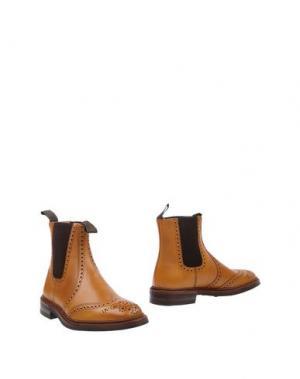 Полусапоги и высокие ботинки LOAKE. Цвет: желто-коричневый