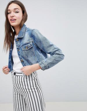 Укороченная джинсовая куртка Fitz Brave Soul. Цвет: синий