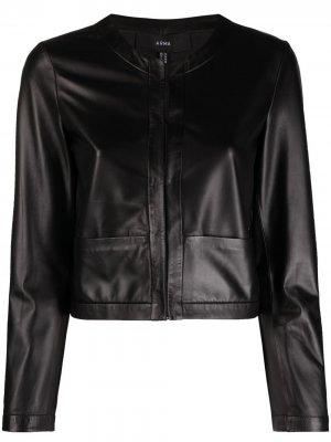 Куртка с потайной застежкой Arma. Цвет: черный