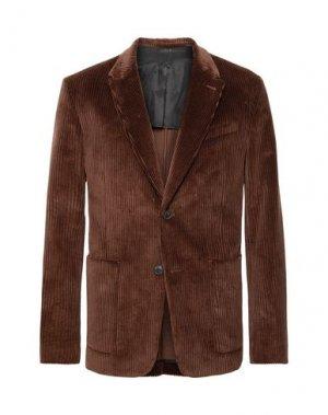 Пиджак AMI ALEXANDRE MATTIUSSI. Цвет: коричневый