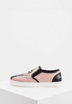 Слипоны Dolce&Gabbana. Цвет: розовый