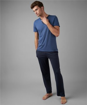 Пижамы (футболка и брюки) HENDERSON. Цвет: синий