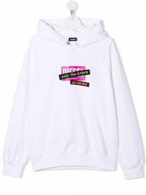 TEEN Sonelget Over 3D-tape hoodie Diesel Kids. Цвет: белый