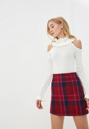 Джемпер Lost Ink EXTREME RUFFLE COLD SHOULDER JUMPER. Цвет: бежевый
