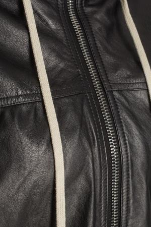 Кожаная куртка Rick Owens. Цвет: черный