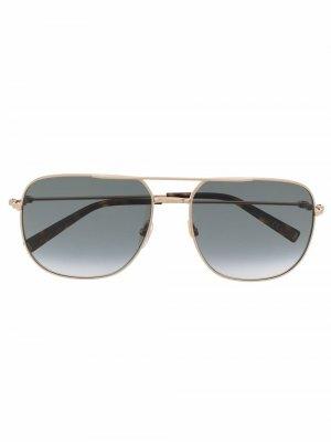 Солнцезащитные очки в квадратной оправе Givenchy Eyewear. Цвет: золотистый